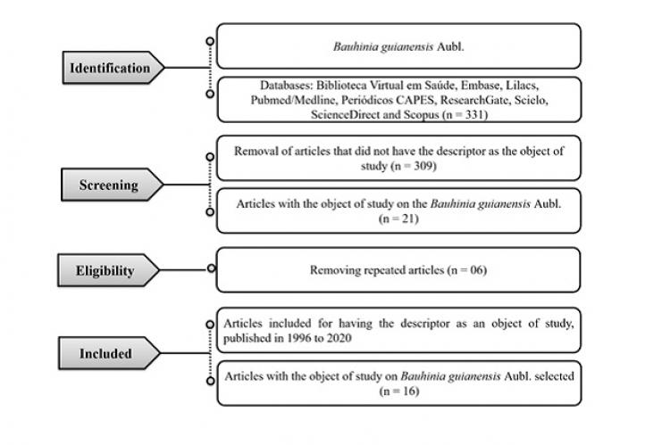 Flowchart of the selection criteria for the articles of interest