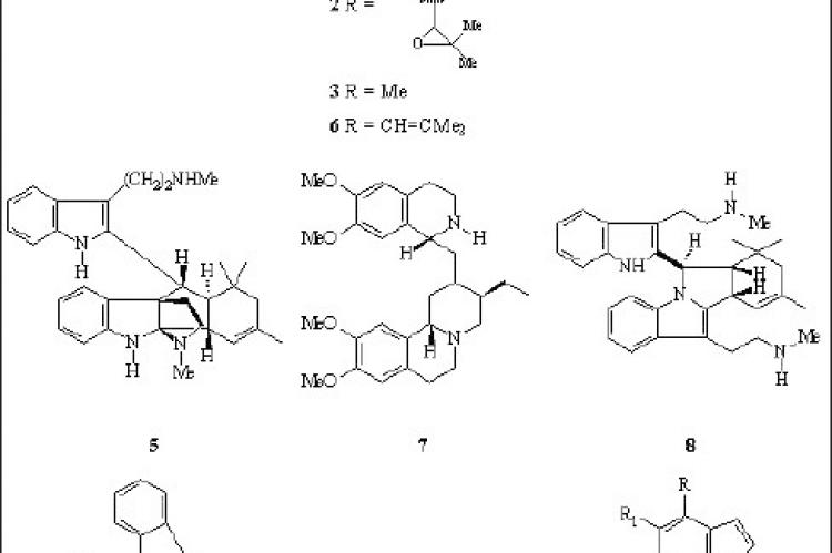Alkaloids isolated from Borreria species