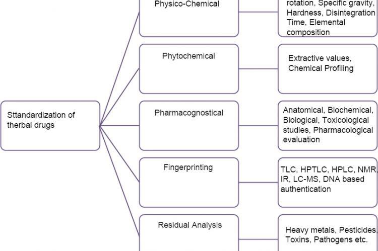 Standardization of herbal drugs