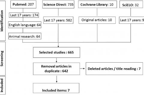 Flowchart representing the process of selecting the articles used in this review